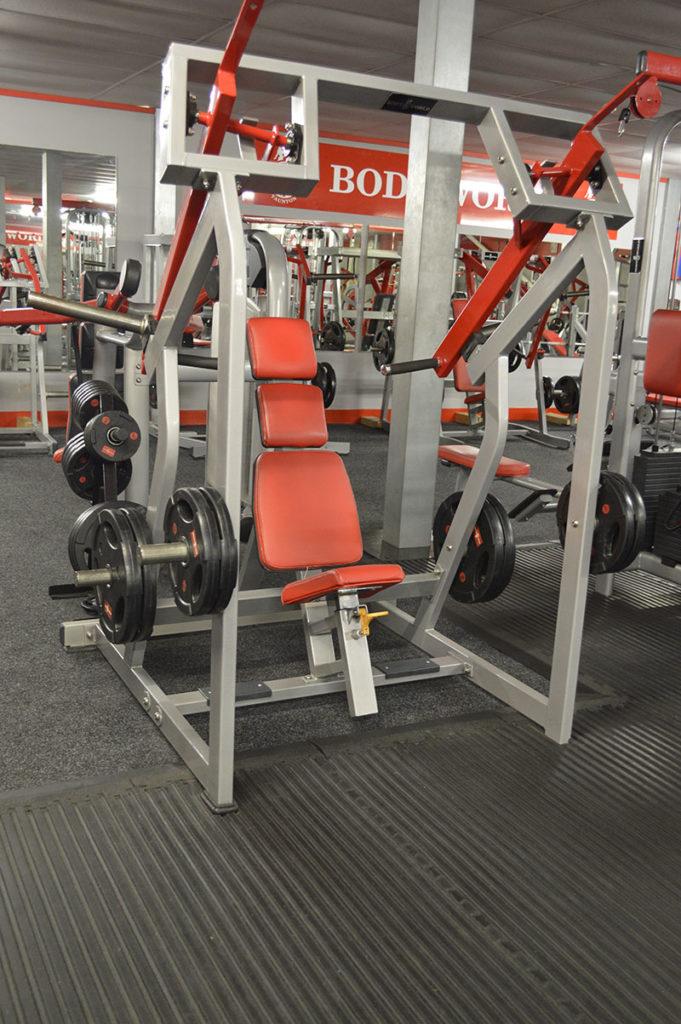 Bodyworld Seated Shoulder Press Plated