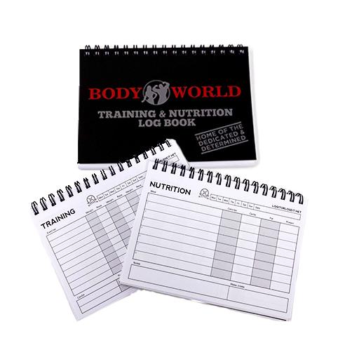 Bodyworld Training and Nutrition Log Book
